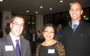 CLE & Networking Reception: Paul Miller, Angela Zeman, and Michael Aschenbrener.