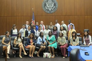 Students from Chicago-Kent's 2012 PLUS Program met with  7th Circuit Court Judge Ann Claire Williams on June 12.