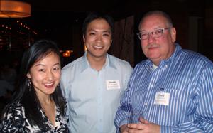 (L-R): Lina Guo '10, Dennis Chang '11, and David Retz '87.