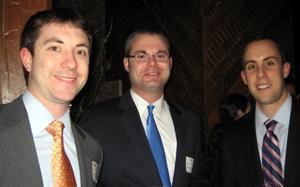 Young Alumni Social: (L-R): Patrick Kelly '07, Bill Cotter '07, and Michael LaMonica '07.