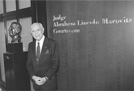 Judge Abraham Lincoln Marovitz '25